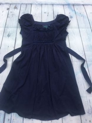 Mini Boden navy blue dress with tie at the back age 4-5